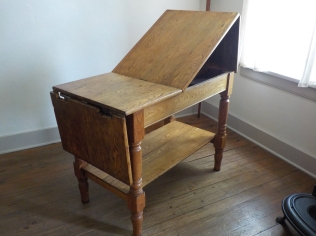 An early examination table.