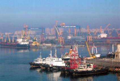 Constanta's industrial port.