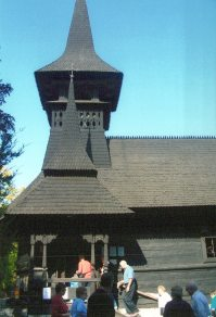 Tourists enter the church at St. Maria's Hermitage.